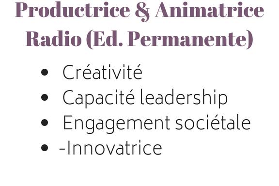 Productrice & Animatrice Radio